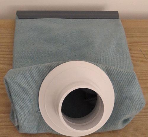 پارچه اسپان در پاکت جاروبرقی